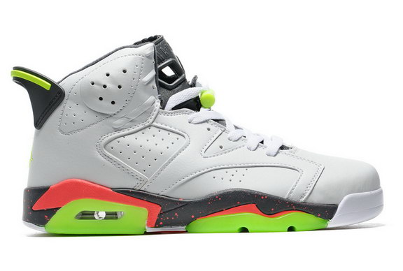Air Jordan 6 Retro Shoes White/Green Red Black